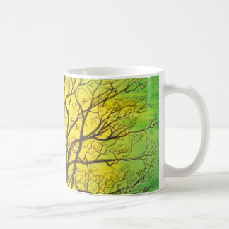 Green Tree Classic White Coffee Mug