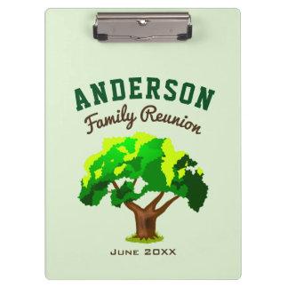 Green Tree Custom Name Family Reunion Clipboard