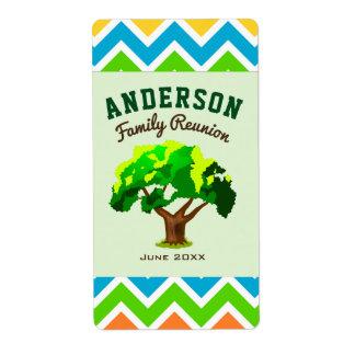 Green Tree Custom Name Family Reunion Label