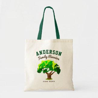 Green Tree Custom Name Family Reunion Tote Bag