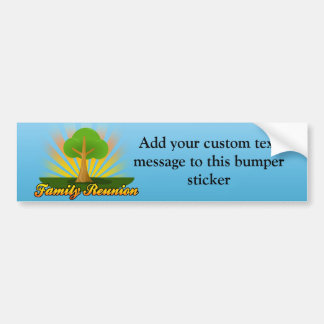 Green Tree Family Reunion Logo Car Bumper Sticker