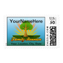 Green Tree Family Reunion Logo Postage
