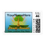 Green Tree Family Reunion Logo Stamp