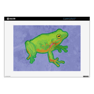 "Green Tree Frog 15"" Laptop Decals"