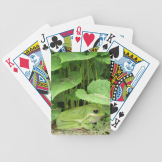 Green tree frog bicycle playing cards