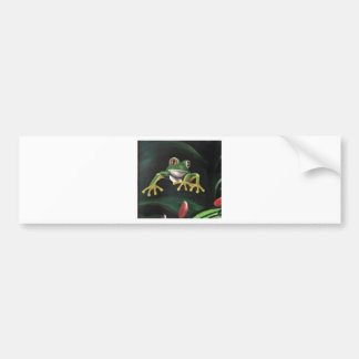 Green Tree Frog Bumper Sticker