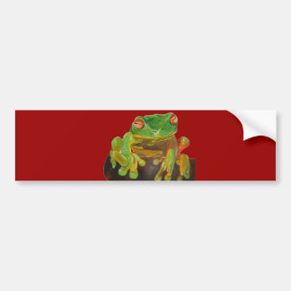 Green Tree Frog Bumper Stickers