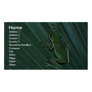 Green Tree Frog Business Card