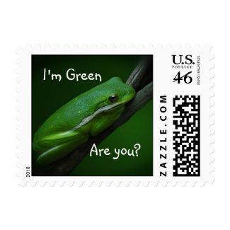 Green Tree Frog Ecology Stamp stamp
