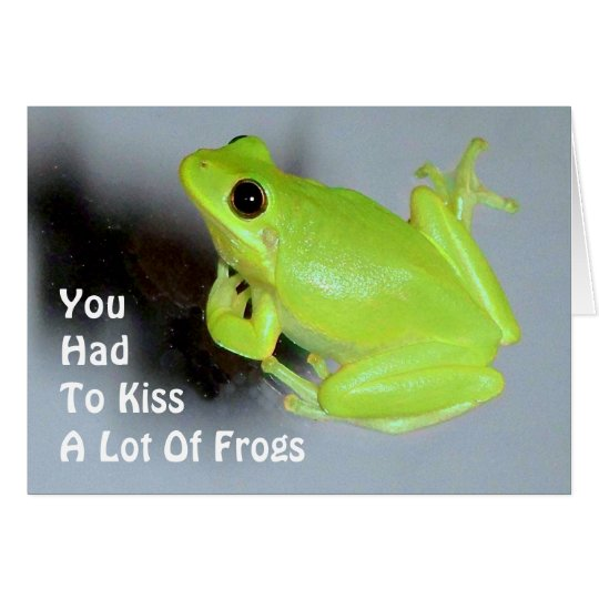 Green Tree Frog Image Card