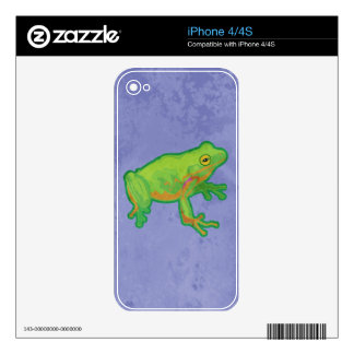 Green Tree Frog iPhone 4S Skins