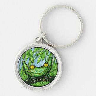 Green Tree Frog Keychain