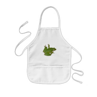 Green Tree Frog Kid Apron