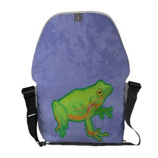 Green Tree Frog Messenger Bag
