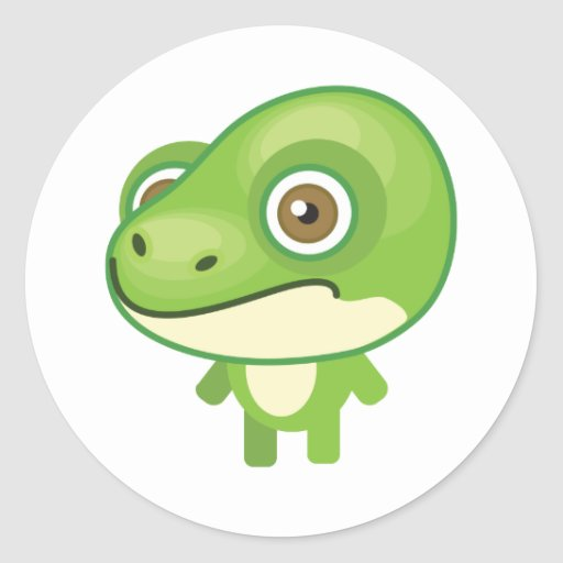 Green Tree Frog - My Conservation Park Classic Round Sticker