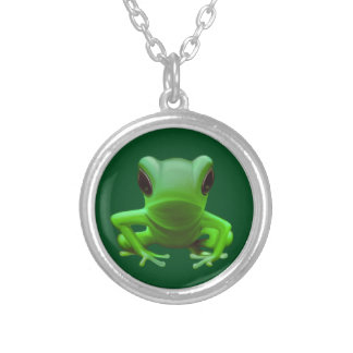 Green Tree Frog Personalised Necklace