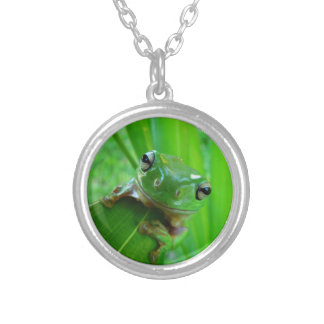 Green Tree Frog Pendant