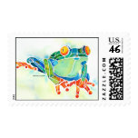 Green Tree Frog Postage Stamps