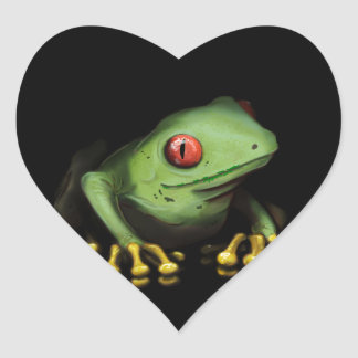 Green Tree Frog Products Customize Heart Stickers