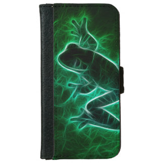 Green Tree Frog Silhouette iPhone 6/6s Wallet Case