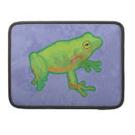 Green Tree Frog Sleeves For MacBooks