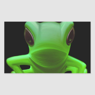 Green Tree Frog Rectangle Stickers
