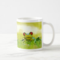 Green Tree Frog With Red The Grass Coffee Mug