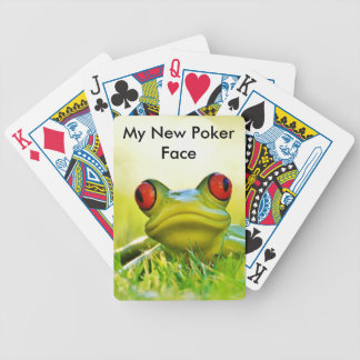 Green Tree Frogs New Poker Face Playing Cards