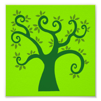 Green Tree graphic causes environment fairytale Poster