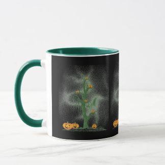 Green Tree Halloween Mug