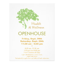 Green Tree Holistic Health and Wellness Nature Flyer