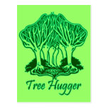 Green Tree Hugger Nature Environment Trees Post Card
