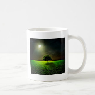 Green Tree in the Moonlight Classic White Coffee Mug