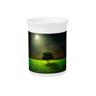 Green Tree in the Moonlight Pitchers
