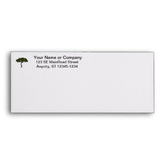 Green tree informal upright photograph envelope