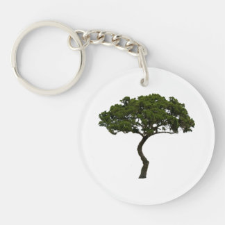 Green tree informal upright photograph keychain