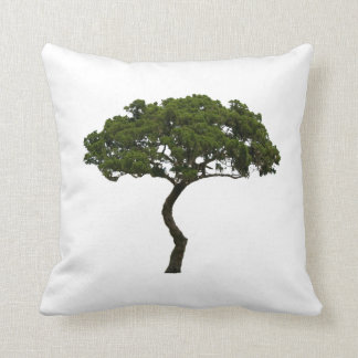 Green tree informal upright photograph throw pillow