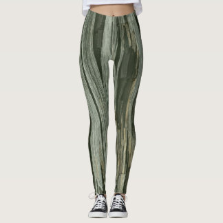 GREEN TREE NATURE by Slipperywindow Leggings