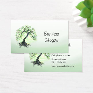 Green Tree of Life Business Card