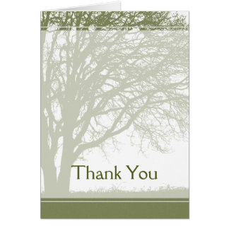 Green Tree of Life Thank You Card