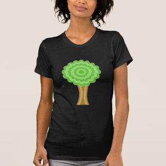 Green Tree. On black background. Shirt