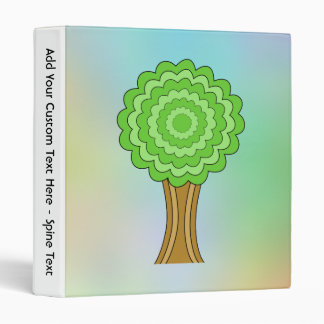 Green Tree. On multicolored background. Vinyl Binder