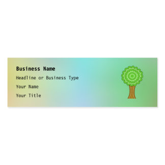 Green Tree. On multicolored background. Business Card