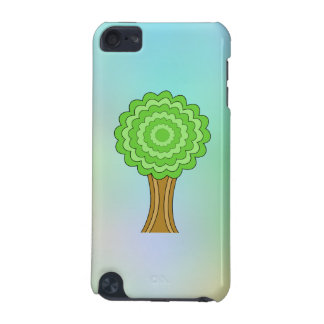 Green Tree. On multicolored background. iPod Touch 5G Cases