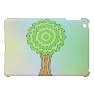 Green Tree. On multicolored background. Case For The iPad Mini
