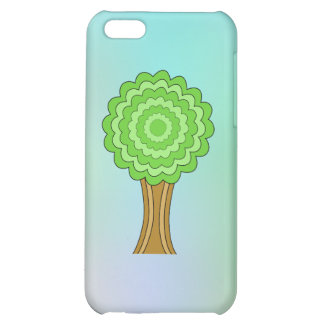 Green Tree. On multicolored background. iPhone 5C Cases