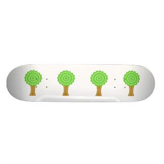 Green Tree. On white background. Custom Skateboard