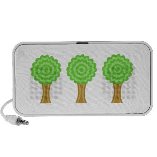 Green Tree. On white background. Custom Travelling Speakers