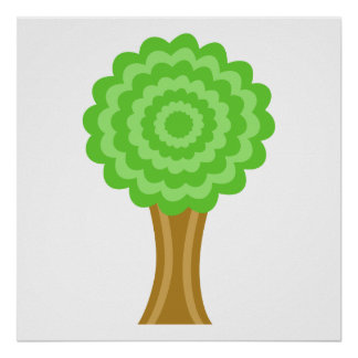 Green Tree. On white background. Posters