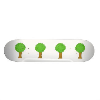 Green Tree. On white background. Skateboard Deck